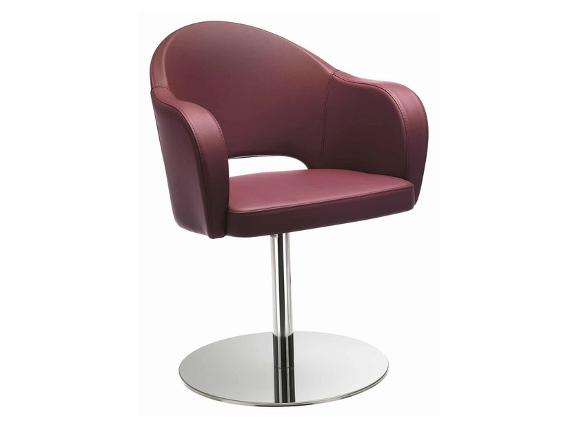 Swivel upholstered easy chair with armrests Agatha 046 by Metalmobil