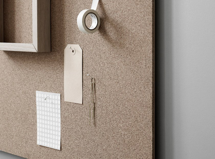 Wall-mounted office whiteboard Air Cork by Lintex
