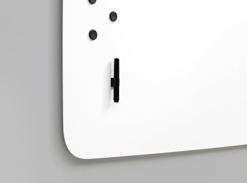 Magnetic wall-mounted office whiteboard Air Flow Whiteboard by Lintex