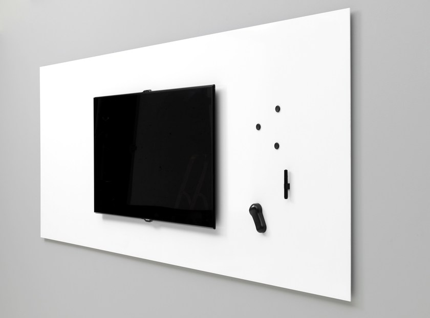 Magnetic wall-mounted office whiteboard Air TV by Lintex