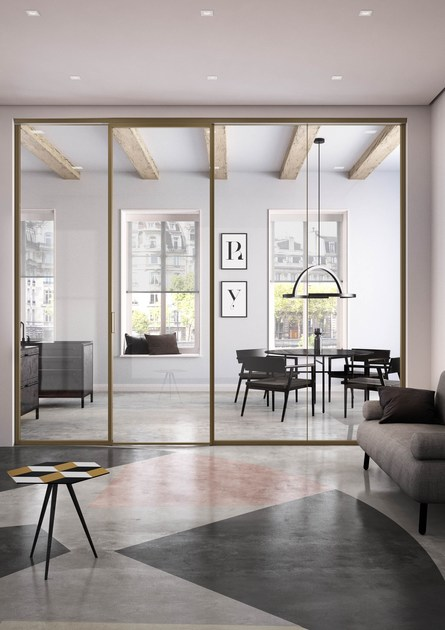 Parete mobile insonorizzata in metallo per ufficio ALL WAYS by ALBED by Delmonte