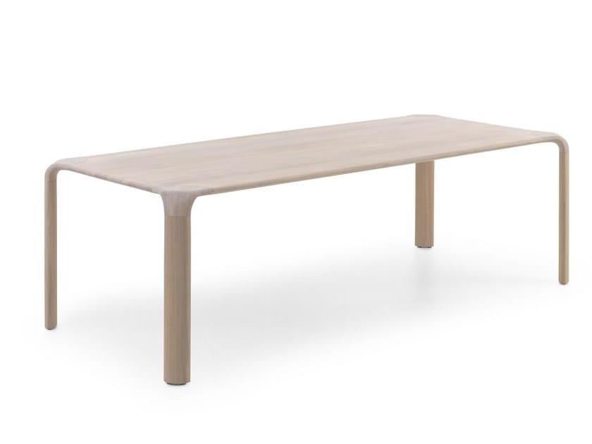 Rectangular solid wood dining table AURELIO by LEOLUX