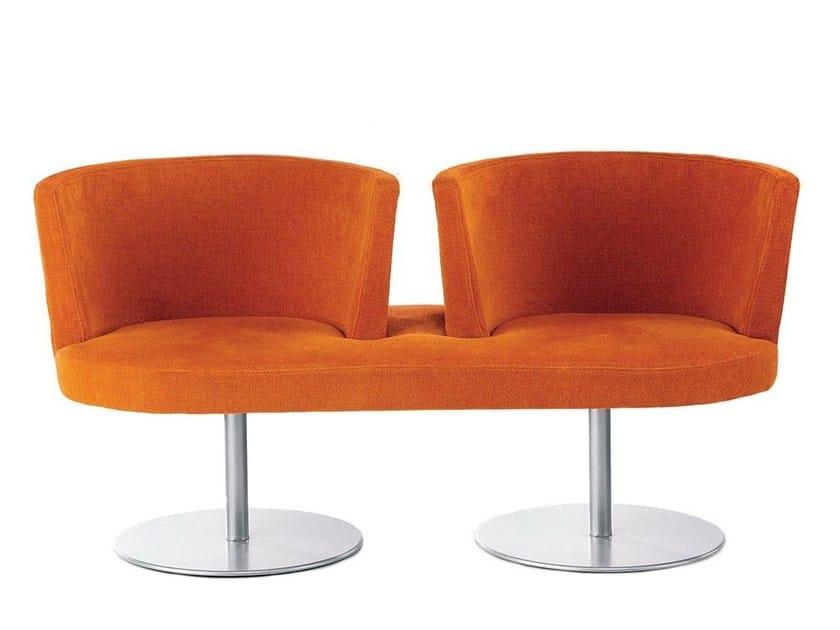 Imitation leather small sofa AURORA LONG by Vela Arredamenti