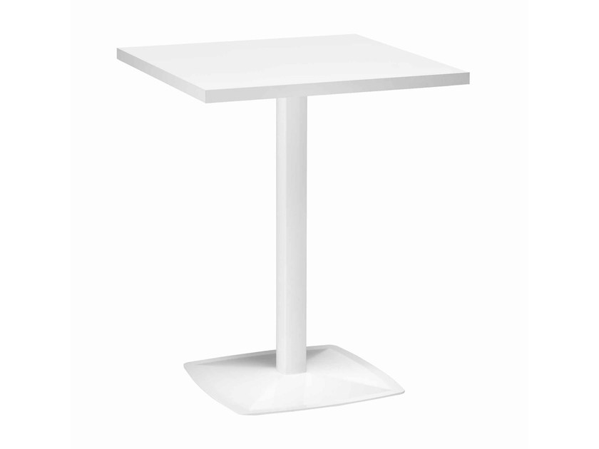 Square metal table Ax 511 by Metalmobil