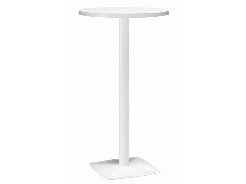 Round metal high table Ax 511A by Metalmobil