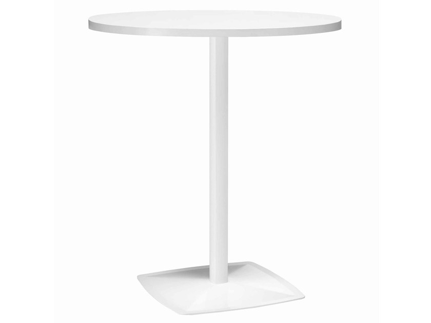 Round metal high table Ax 512A by Metalmobil