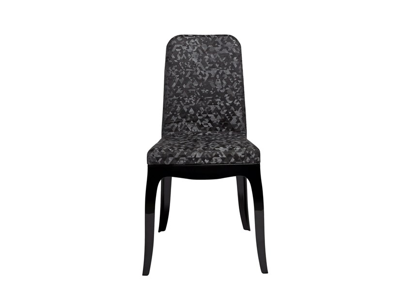 Sedia in policarbonato b b chair triangular black by qeeboo