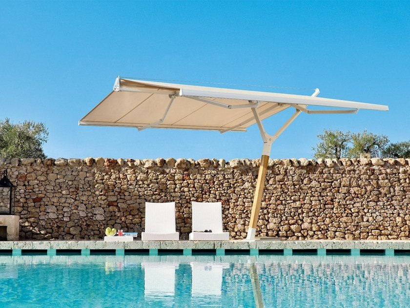 Offset Garden umbrella B-SQUARE by Frigerio Living