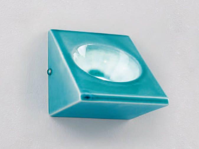 Ceramic spotlight / steplight B1 by Aldo Bernardi