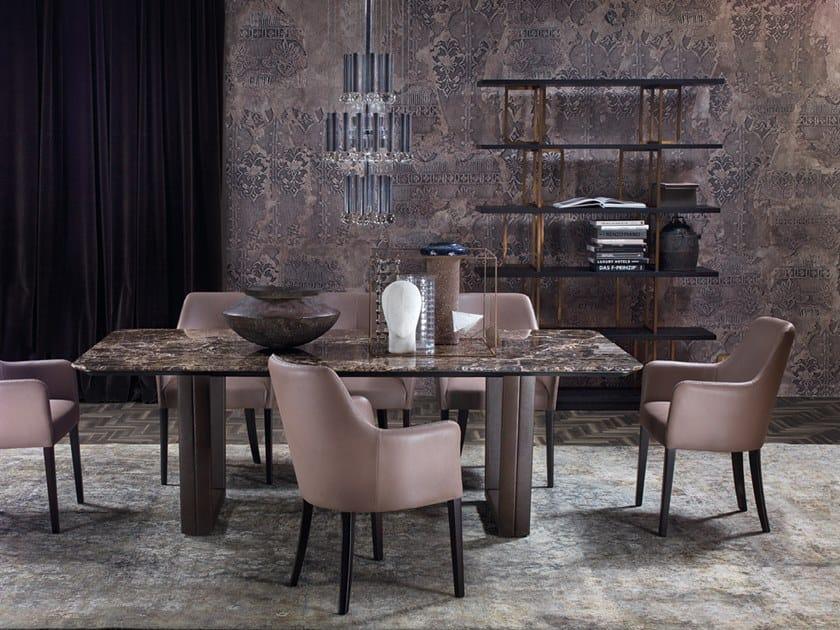 Rectangular marble table B130 by Borzalino