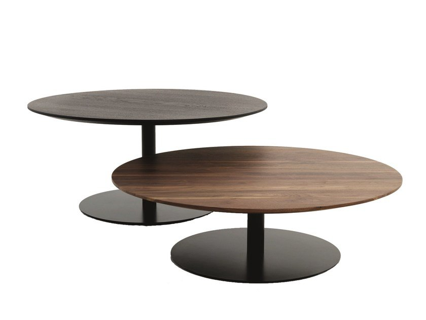 Round wooden side table B14 | Round coffee table by more