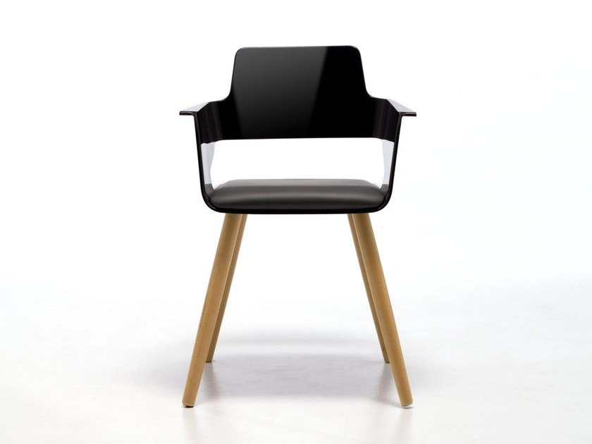 Restaurant chair with armrests B32 4WL | ABS chair by arrmet