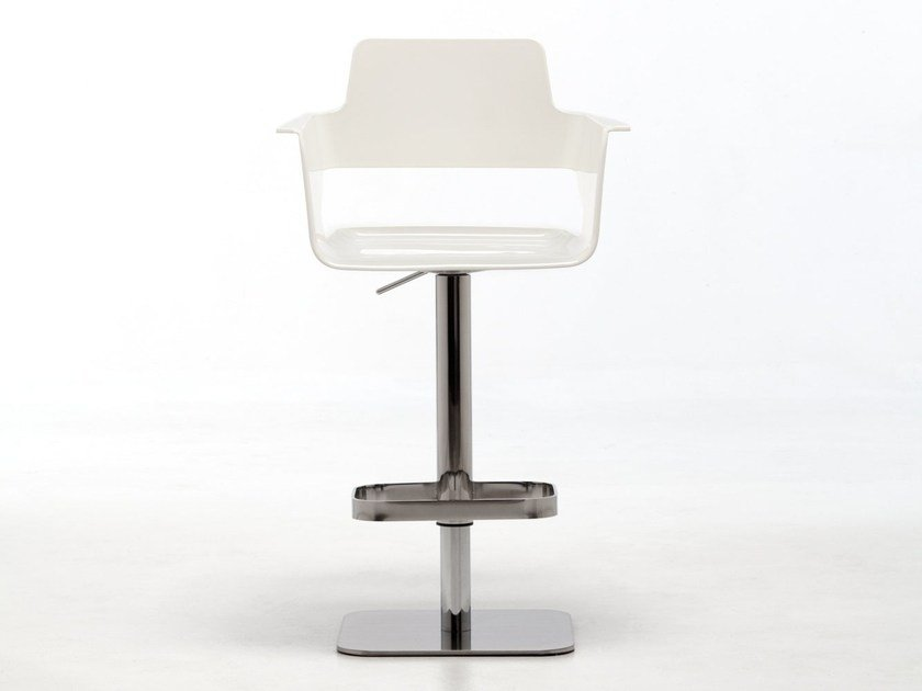 Plastic stool with gas lift with armrests B32 ST-ADJ | Height-adjustable stool by arrmet