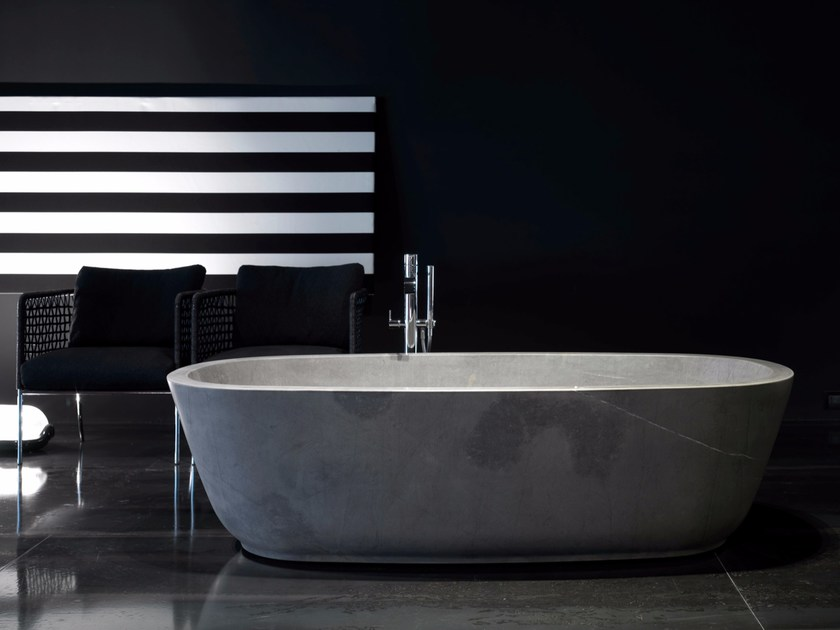 Natural stone bathtub BAÌA | Natural stone bathtub by Antonio Lupi Design