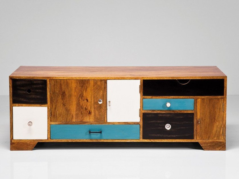 Wooden TV cabinet with shelves BABALOU   Wooden TV cabinet by KARE-DESIGN