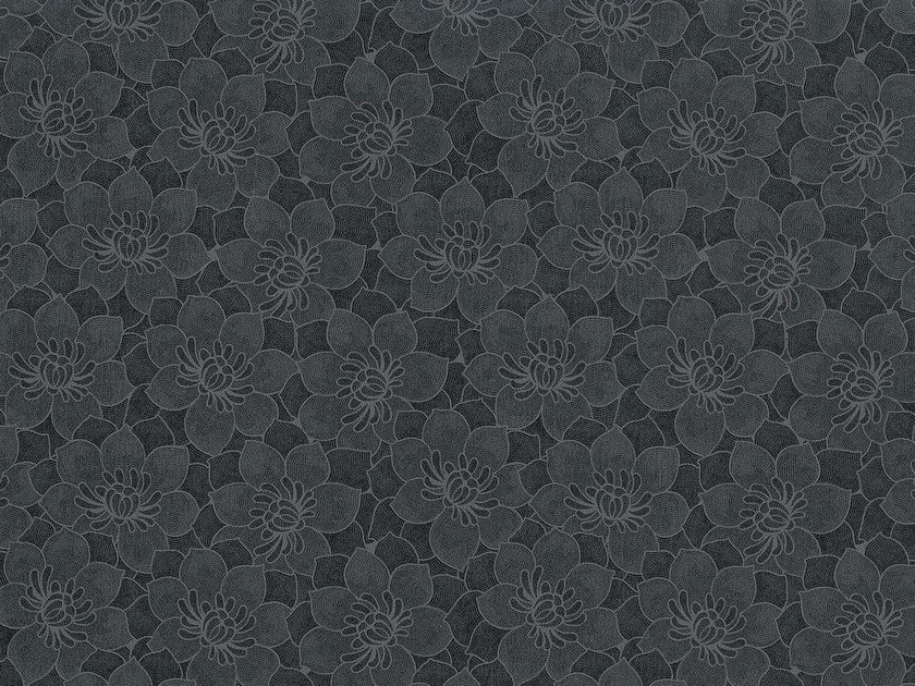 Wallpaper with floral pattern BABEL by Equipo DRT
