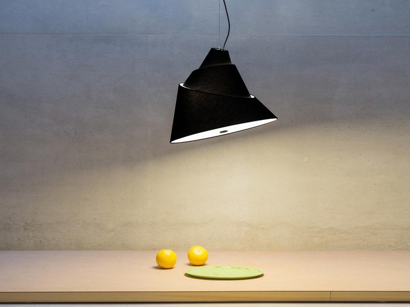 Fluorescent pendant lamp BABEL by Vertigo Bird