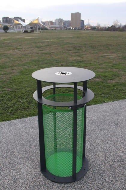 Outdoor steel litter bin BABEL | Litter bin by LAB23 Gibillero Design