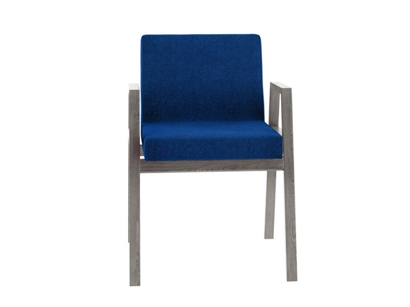 Stackable chair with armrests BABELA by Tacchini