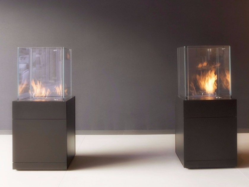 Outdoor bioethanol fireplace BABELE by Antonio Lupi Design