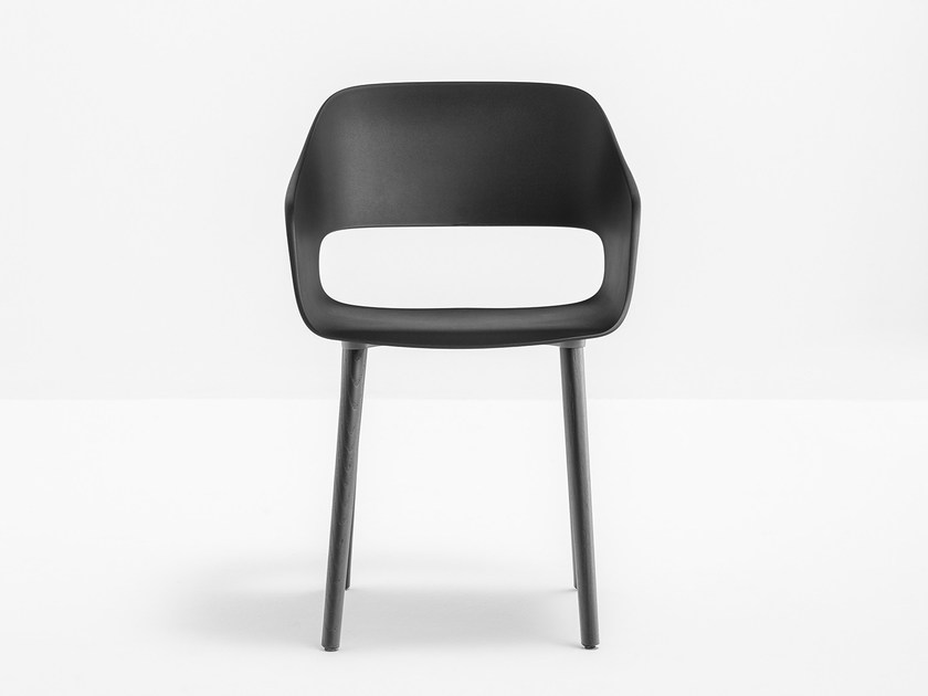 Polypropylene chair with armrests BABILA 2755 by PEDRALI