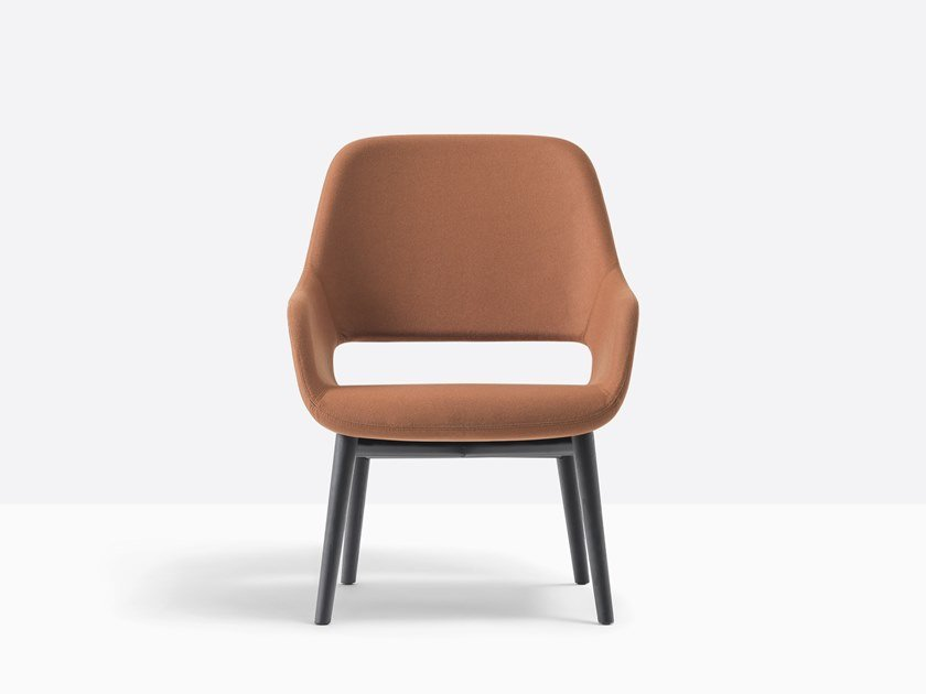 Upholstered fabric easy chair with armrests BABILA 2759 by PEDRALI