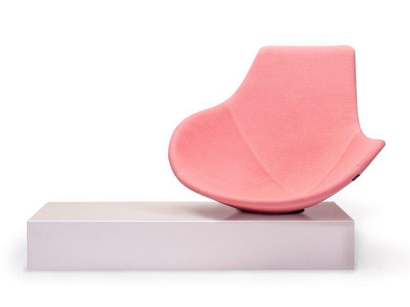 Swivel fabric easy chair BABLED by Offecct
