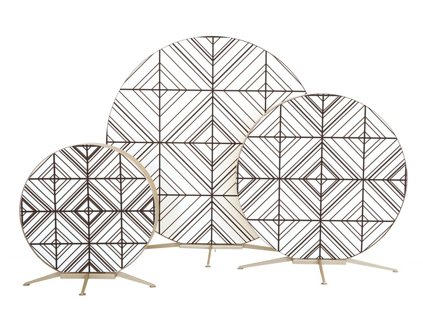 LED fabric floor lamp BABU by Contardi
