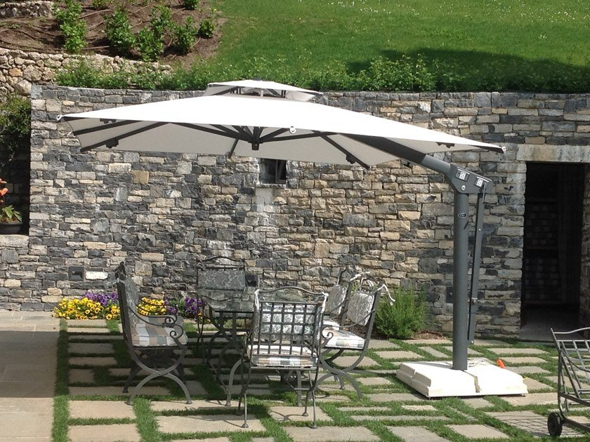 Adjustable offset aluminium Garden umbrella BABY KING by Ombrellificio Poggesi