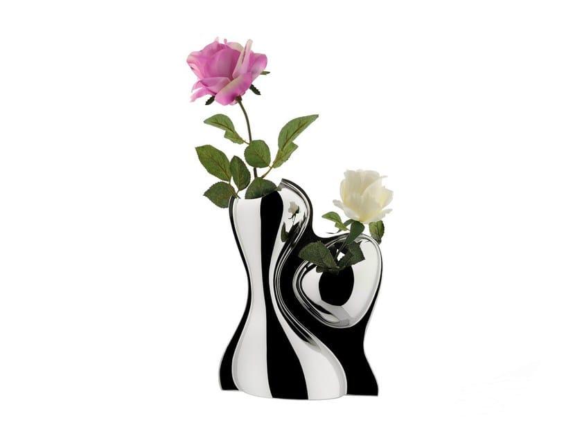 Stainless steel vase BABYBOOP VASE by Alessi