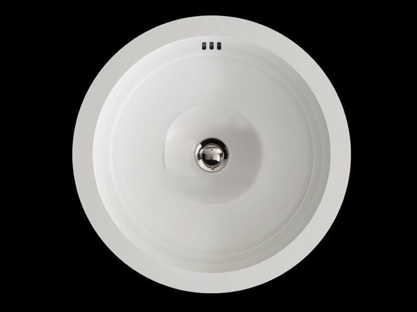 Undermount round ceramic washbasin BABYLON | Ceramic washbasin by Devon&Devon