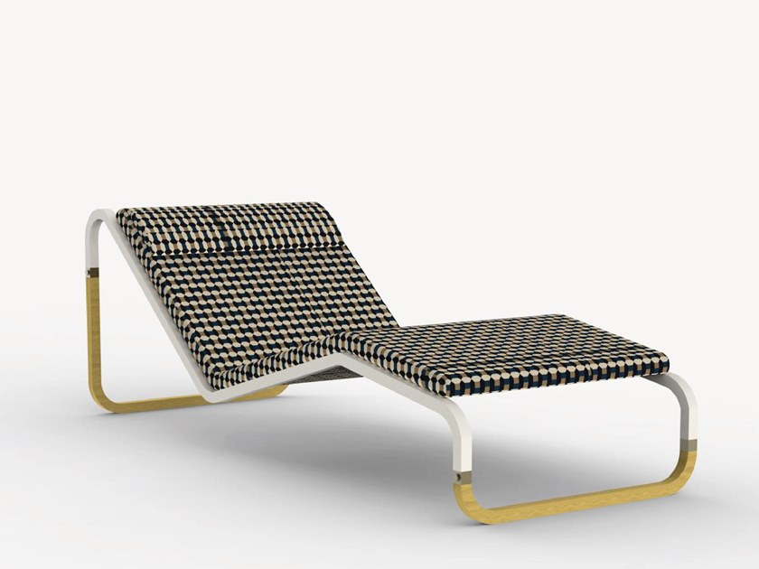 Stainless steel garden daybed BABYLON SPECIAL EDITION by Ciela Mare