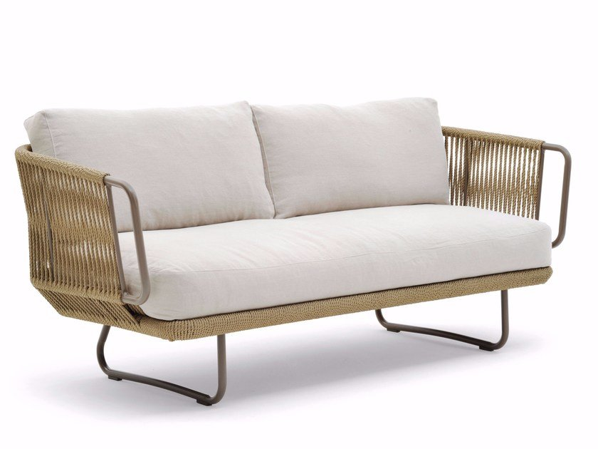 Sofa with man-made fibre cord BABYLON | Sofa by Varaschin