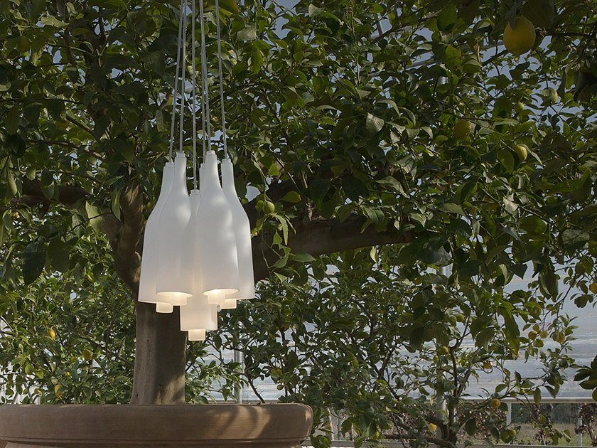 Satin glass pendant lamp BACCO | Pendant lamp by Karman