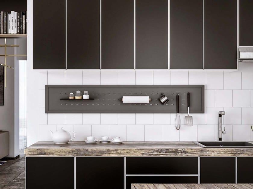 Fitted metal Kitchen backsplash BACK by Damiano Latini