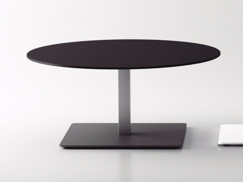 Round MDF bistro side table BADA | MDF coffee table by Systemtronic