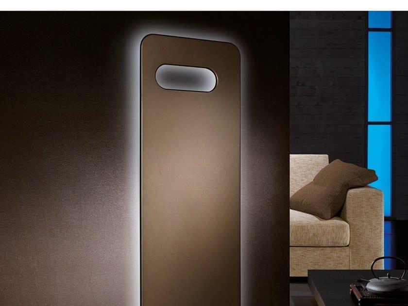 Wall-mounted carbon steel decorative radiator BADGE LED CONTROL by CORDIVARI