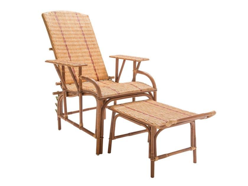 Rattan Chaise longue BAGATELLE | Chaise longue by Kok Maison