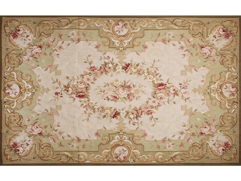 Patterned rectangular wool rug BAGATELLE by EDITION BOUGAINVILLE