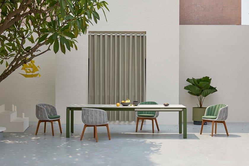 Sedia da giardino in corda BAGEL By Kun Design design Kun Qi ZnBS19