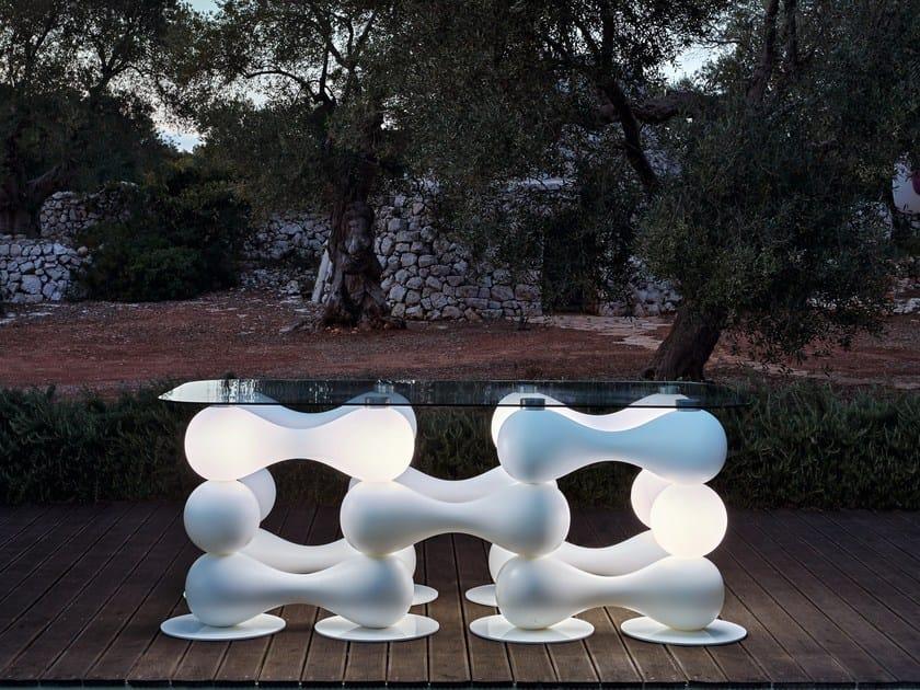 Rectangular Poleasy® table BAGIGIO | Table by Myyour