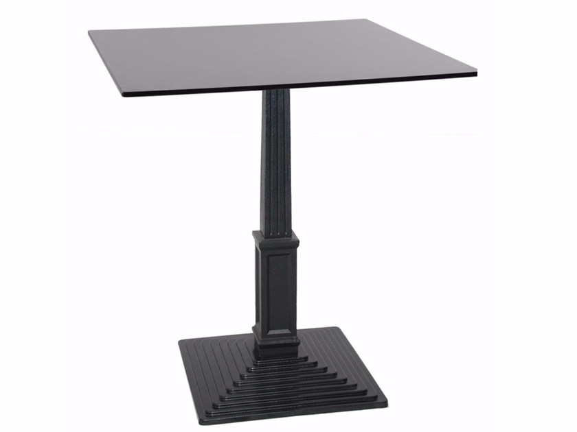 Cast iron contract table BAGRA-Q by Vela Arredamenti