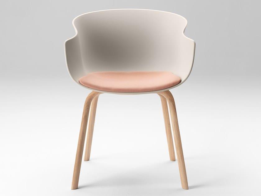 Chaise en polypropylène avec accoudoirs BAI WOOD By