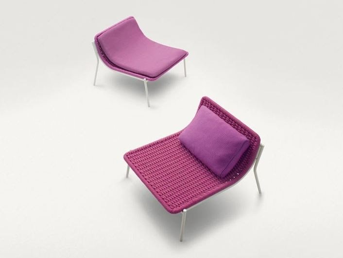 Garden stackable rope easy chair BAIA by Paola Lenti