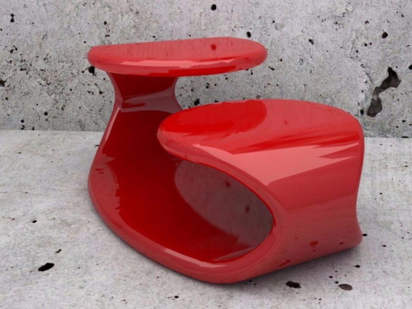 Tavolino laccato in Adamantx® BAIZO' by ZAD ITALY