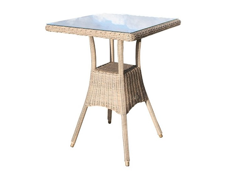 80cm Square bar table BALI | High table by Bridgman
