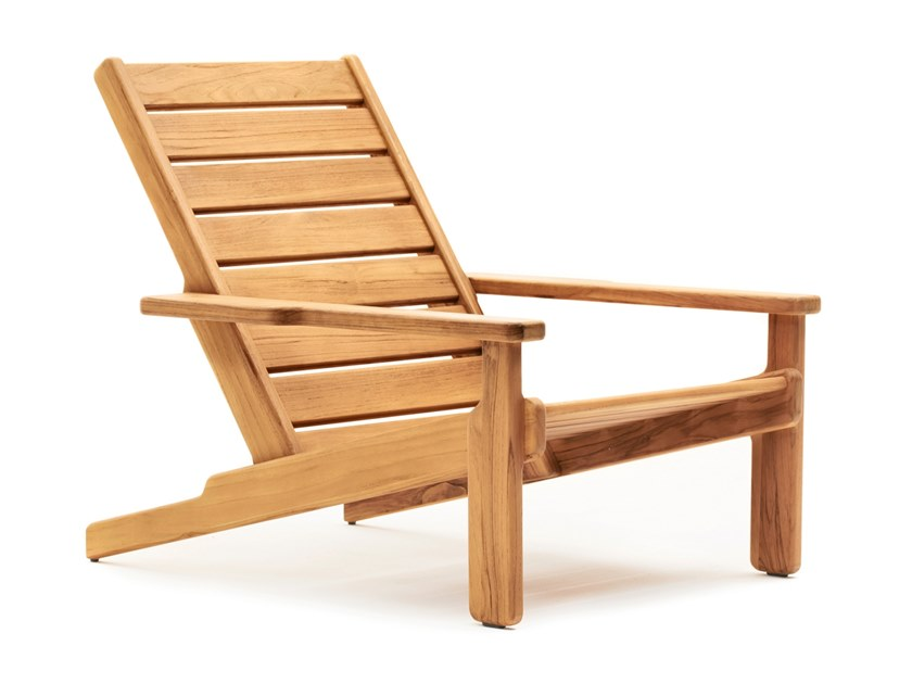 Teak deck chair with armrests BALI | Deck chair by Varaschin