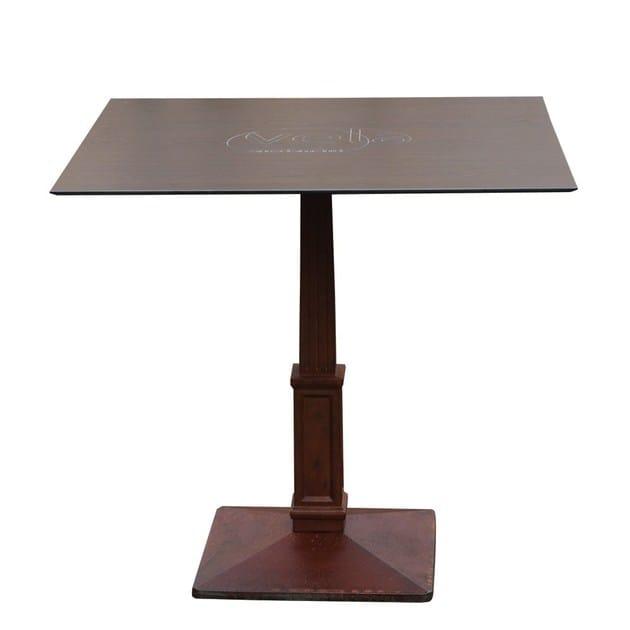 Square cast iron table BALIS-44-Q by Vela Arredamenti