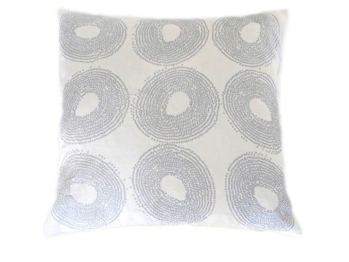 Square linen cushion BALL by Birgit Morgenstern Studios