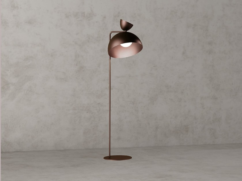 Led Direct Indirect Light Steel Floor Lamp Balloon By Nexo Luce